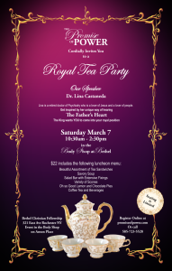 Tea Party Luncheon Poster